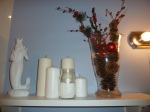 This is a festive shelf in my bathroom. FESTIVE EVERYWHERE.