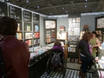 This booth sold vintage books re-purposed as journals and stuff.