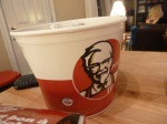 It's just not Christmas without a giant bucket of KFC!