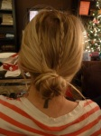 Kari's hair-do contest entry.