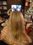"Celeste's ""hair-do"" contest entry. WHO WON? YOU DECIDE..."
