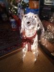 New outside decoration, Badger the dog.