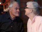 Grandma and Grandpa Noel having a staring contest.
