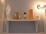 My lovely bathroom shelf.