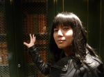 Celeste likes to caress books in elevators.