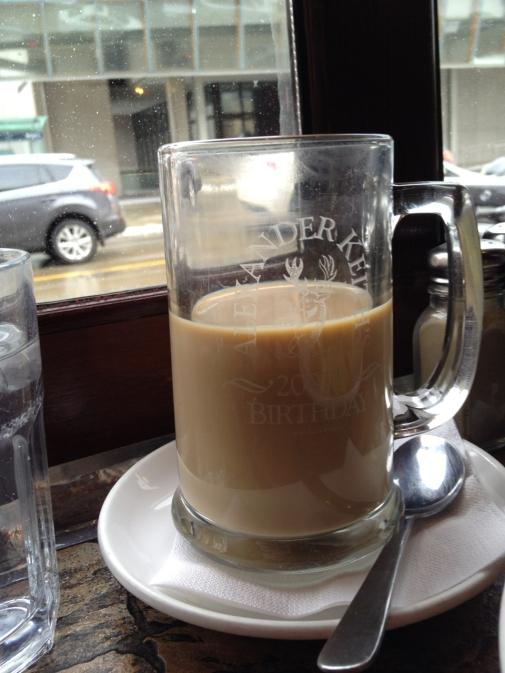 A little pre-gallery Irish Coffee