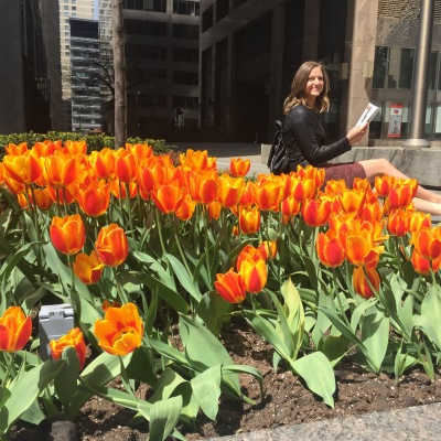 TULIPS! What a beautiful spring day.