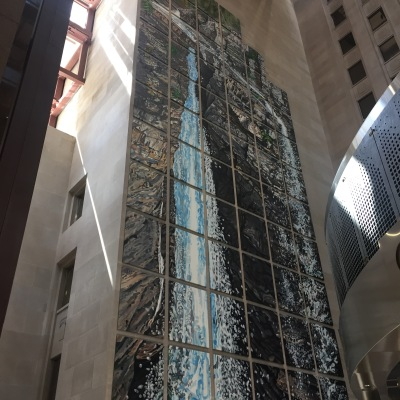 #9: The big waterfall painting in the Scotiabank Plaza