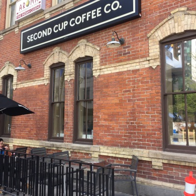 """Shout out to when Nathalie suggested we stop at a Second Cup patio to """"feel the urban vibe"""". Maybe another time, Nathalie. Maybe another time."""